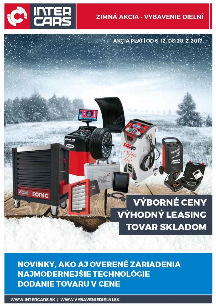 Zimná akcia vybavenia dielní