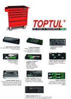Vozík na náradie s vybavením Tools trolley with equipment number of tools: 164 pcs, number of drawers: 5, 840/687/459mm, colour: red, series: STANDARD